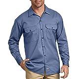 Dickies Herren Long Sleeve Work Hemd, Gulf Blue, Mittel