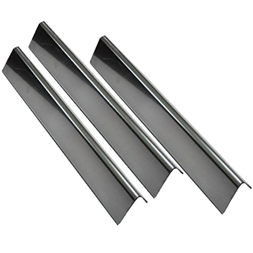Grill Valueparts 7635 (3-pack) BBQ Gas Grill Stainless Steel Flavorizer Bars, Heat Shield (16 Ga.) For Weber Spirit 200 Series Gas Grills With Front-Mounted Control Panels (Dims: 15 1/4