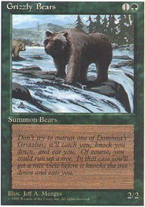 Magic The Gathering - Grizzly Bears - Alternate 4th Edition