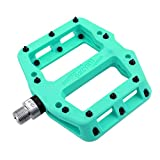 MZYRH MTB Pedals Mountain Bike Pedals Lightweight Nylon Fiber Bicycle Platform Pedals for BMX MTB 9/16'