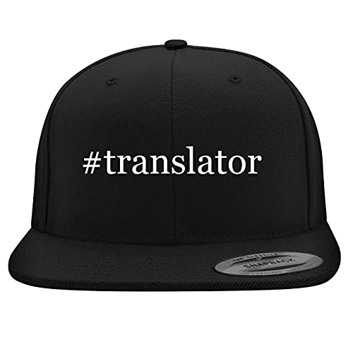 BH Cool Designs #Translator - Yupoong 6089 Structured Flat Bill Snapback, Black, One Size