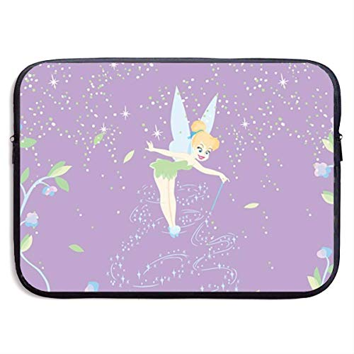 Hdadwy Laptop Sleeve Case Tinkerbell with Flower Notebook Computer Pocket Case for MacBook Pro/MacBook Air/Notebook Computer