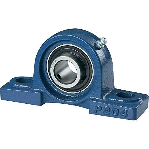 UCP 204 / NP20 204- Cuscinetto autoallineante a blocco con rivestimento in ghisa e foro di diametro 20 mm