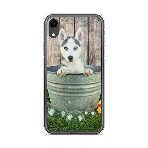 Handyhülle Cute Dog H& kompatibel für Samsung Galaxy A70 / A70s Husky Ente Schutz Hülle Hülle Bumper transparent r& um Schutz Cartoon M10