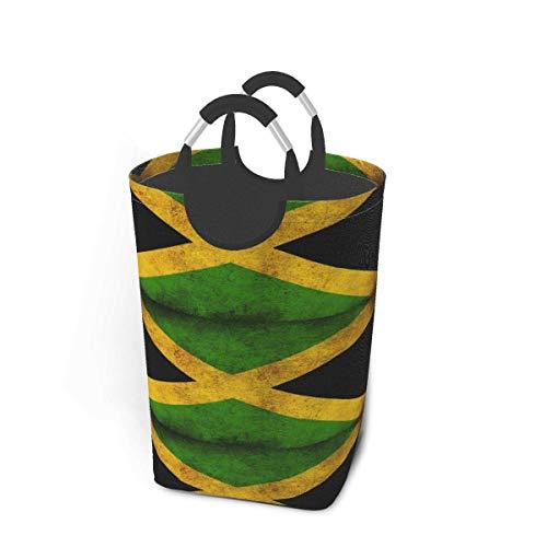 mallcentral-EU Vintage Jamaican Flag Wäschekorb Faltbarer Korb Aufbewahrungskörbe Waschbehälter 50L