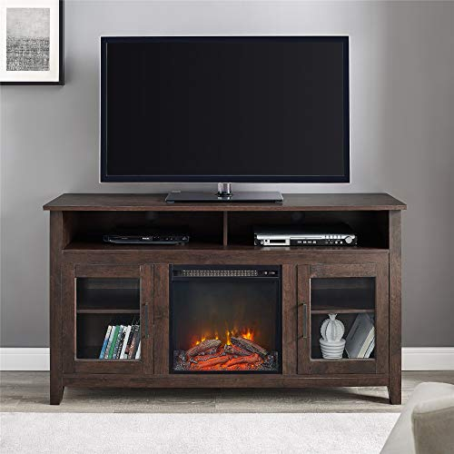 Electric Fireplace TV Stand 70 inch Corner Fireplace vs WE Furniture Tall Rustic Wood Fireplace Stand for TV's up to 64