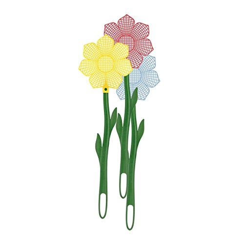 Westmark 5095 2251 Fliegenklatsche \'Blume\', Kunststoff, 48,5cm, Stück:3 Stück