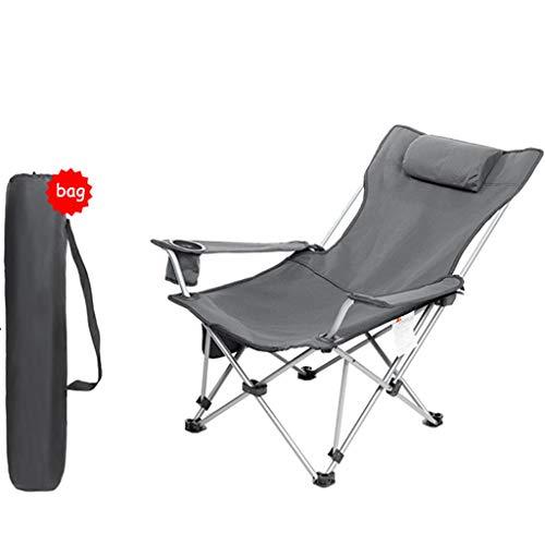 Sillón reclinable Garden Lounge Chair Plegable, Silla Portátil Portátil para Acampar Al Aire Libre, Balcón Interior Silla Plegable para Terraza, Silla De Pesca con Respaldo Riverside