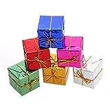 Decoration de Sapin de Noël, Koly Mini Ornaments 12pcs Coffrets Cadeaux Pendentif décorations de noël en Mousse Ornement Arbre de Noël Suspendu balises Pendentif décor (2.5cmX2.5cmX2.5cm)