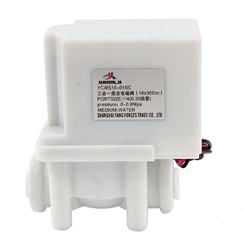 DC24V purificador de 6,35 mm 1/4 'Válvula de solenoide de agua tubo de aire neumático