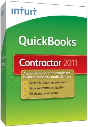 QuickBooks Premier Contractor 2011 Old Version product image