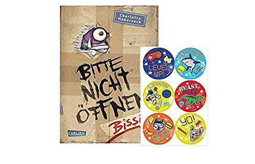 Carlsen Verlag Bissig! Bitte Nicht öffnen, Band 1 (Gebundene Ausgabe) + 1x Kinder- Stickerbogen