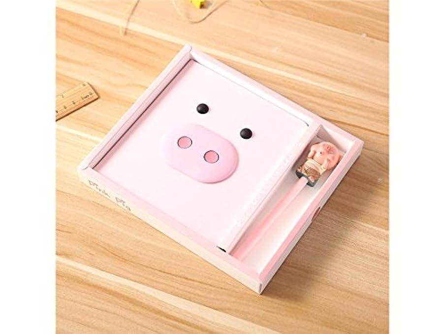 伝統的隔離するの配列FenBuGu-JP かわいい豚パターンノートパーソナルダイアリーと雑誌ペンでホームスクールオフィス旅行(ピンク)