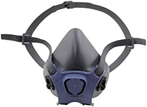 Moldex 7001 7000 Series Reusable Half-Mask Respirators, Adjustable Head Cradle, Black