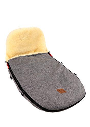 Kaiser 6512070 Kinderwagenfußsack passend für Bugaboo und Joolz, Lammfell medizin melange, anthrazit