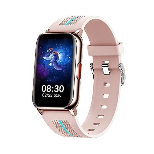 ACESPORT Reloj Inteligente Mujer Hombre Smartwatch Bluetooth 5.0, 1.57 pulgadas Impermeable Reloj inteligente Rastreador de actividad de frecuencia cardíaca Control de música para dormir(H76,PINK)