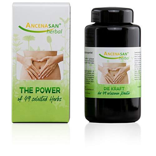 ANCENASAN® herbal 120g - 49 Kräuter - Bitterstoffe ohne Alkohol - Regeneration der Verdauung - Glutenfrei, vegan, 100% naturrein
