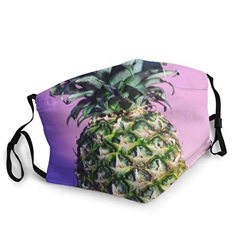 Jrey.T Mundschutz Gesichtsbedeckung Face Cover Mouth Cover Colorful Rainbow Pineapple Mit waschbare und...
