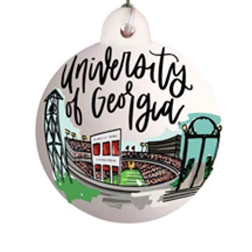 Glory Haus Collegiate Landmark Ornament (Georgia Bulldogs)