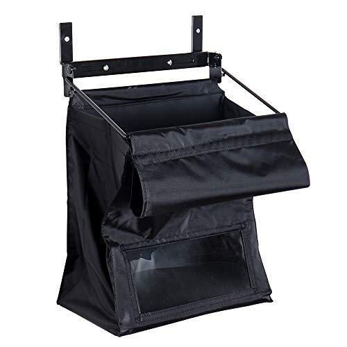 Indoor Wall Mount Mail Catcher Bag Door Slot Post Box Basket Mail Boxes Organizer Security Black