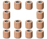 "(14-Pack) 2"" x 5 Yards | Beige Self Adhesive Bandage Wrap – Breathable Self Adherent W..."