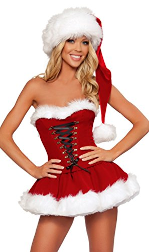 Signora Babbo Natale Costume Donna Miss Babbo Natale Xmas Fancy Dress Outfit