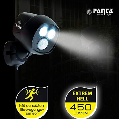 MediaShop Panta Safe Light 2er Set – LED Strahler für innen und außen – Außenleuchten mit Bewegungsmelder und Tageslichtsensor – wetterfeste LED Außenbeleuchtung – 2 Stk. - 6