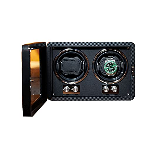 LRBBH Cajas Giratorias para Relojes Caja Reloj Madera Clase Alta Soporte para Motor Shaker Mostrar Caja De Joyería Fácil Acceso