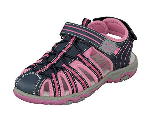 Indigo Kinder Mädchen Schuhe geschlossene Freizeit Sandalen Klett 481-195 Fuchsia (Numeric_33)