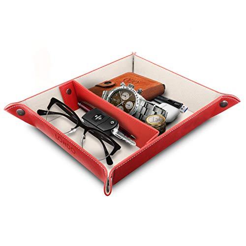 Londo - Ledertablett Organizer - Praktische Aufbewahrungsbox für Brieftaschen, Uhren, Schlüssel, Münzen, Handys und Büroausrüstung, OTTO202