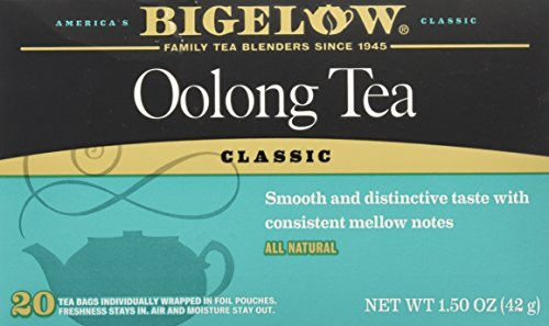 Bigelow Oolong Tea Bags Classic- 20 ct Caffeinated Individual Black Tea Bags, for Hot Tea or Iced Tea, Drink Plain or Sweetened with Honey or Sugar