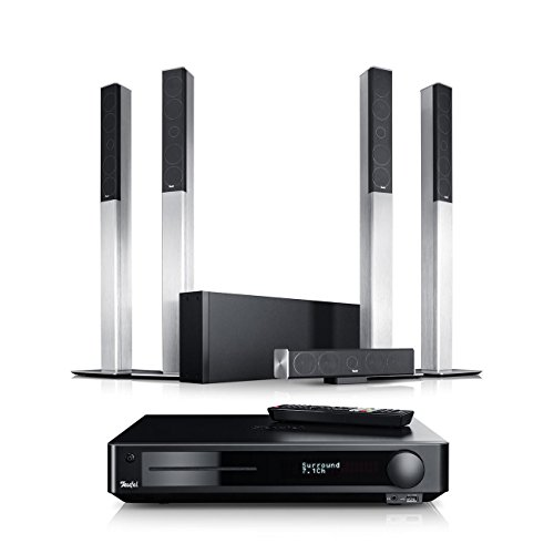 Teufel LT 4 Impaq 5.1-Set L Silber/Schwarz Heimkino Lautsprecher 5.1 Soundanlage Kino Raumklang Surround Subwoofer Movie High-End HiFi Speaker