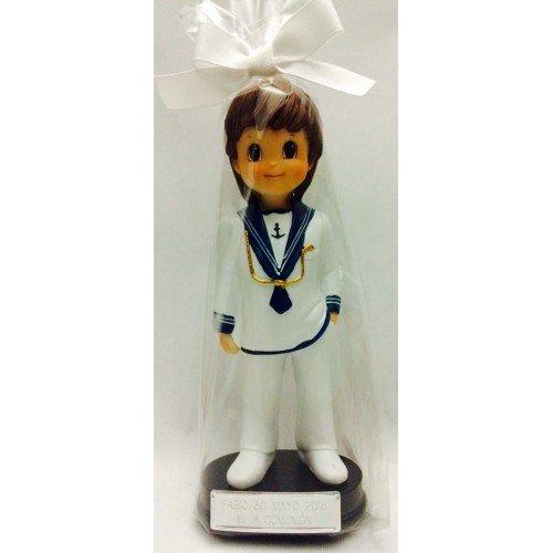 Figura comunión niño tarta GRABADA PERSONALIZADA figuras para pastel de marinero
