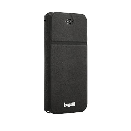 Bugatti Lugano Innovative Super-Slim Bookstyle Schutzhülle für Apple iPhone 6S Plus / Samsung Galaxy S6 Edge+ und allen Phablets (Smartphones) mit 5,1