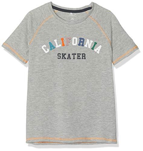 NAME IT Jungen Nkmjiclas Ss Top T-Shirt, Grau (Grey Melange), 158 (Herstellergröße: 158-164)