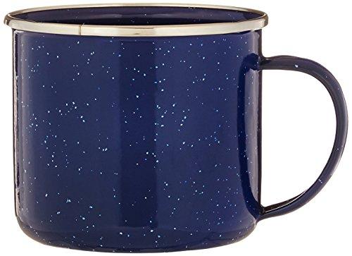 StanSport S.S. Edge Emaille Kaffee Tasse, blau