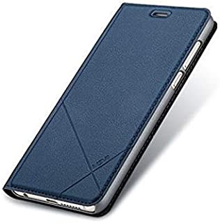 Huawei honor 8 leather cover flip smart sleep case stand shell anti fall protective sleeve HW8130 blue
