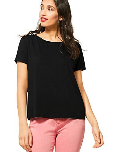 Street One Damen 314797 Crista T-Shirt, Black, 44