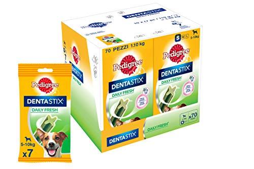 PEDIGREE Dentastix Fresh Premios para Perros Pequeños de Higiene Oral contra el Mal Aliento - Paquete de 10 x 110 gr - Total: 1100 gr