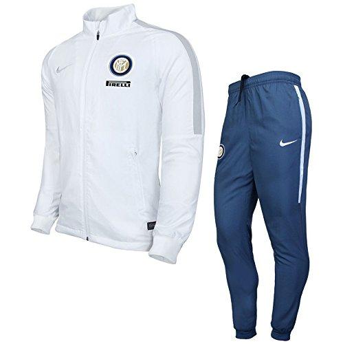 Nike Inter Y NK Dry TRK Suit SQD K - Trainingsanzug Inter de Milán Weiß - XL - Unisex Kinder
