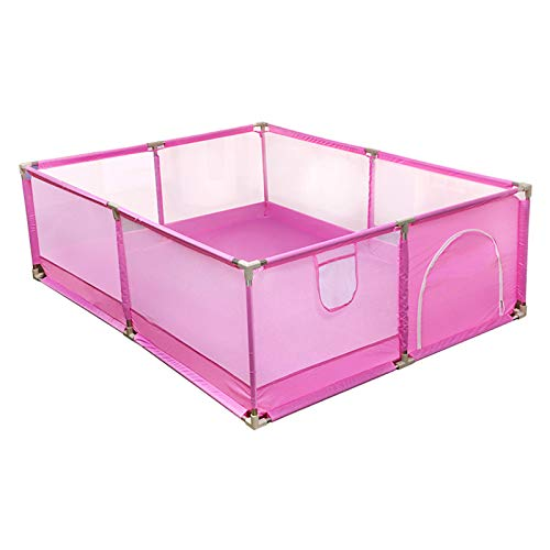 Tragbarer Baby-Laufstall, Spielplatz mit faltbarem Zaun und Sicherheitstor für Kinder und Kinder,...