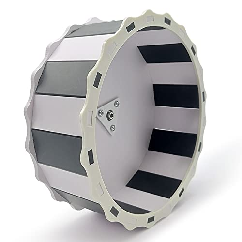 Hamster Wheel Silent Exercise Running Wheel Toys for Chinchilla Hedgehog Hamster Gerbils, Mice and Other Small Pet Diameter of 8.3 in (Black and White)