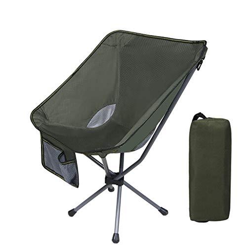 JIAX opvouwbare campingstoel, lichtgewicht draagbare rugzak, geschikt voor buiten, zware capaciteit van 150 kg, ademend comfort, met tas