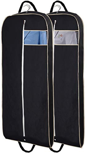 MISSLO 54' Suit Bags for Men Garment Covers for Clothes Breathable Carrier Dress Garment Bag for Storage with Handle and Gusseted, Pack of 2