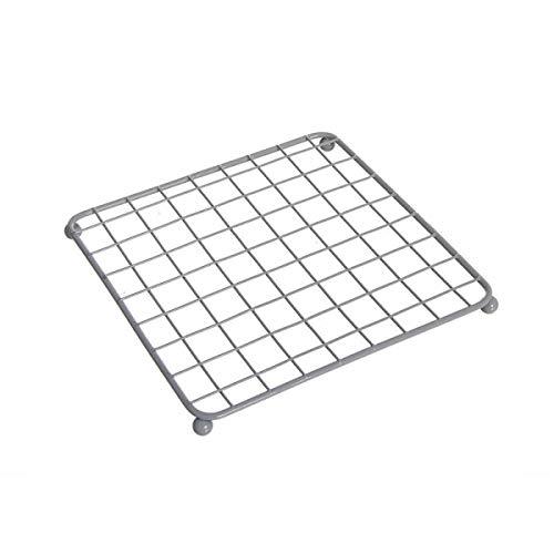 Home Gadgets Nappe, métallisée, Gris 17 cm