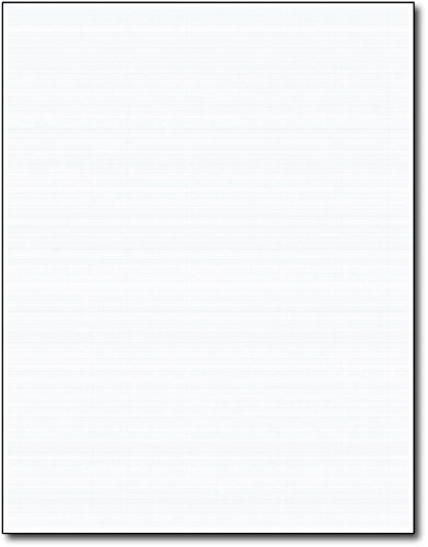 Heavyweight Linen Textured Cardstock - 50 Sheets - Blank Thick Paper for Inkjet/Laser Printers (White)