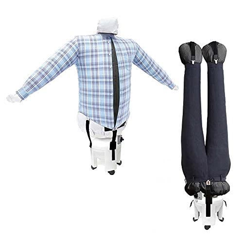EOLO RepaSSecheur repasse et sèche automatiquement Chemises, Pantalons. Il rafraîchit vêtements avec air Froid Repassage Vertical Professionnel à Économie d'énergie avec Roues Garantie 5 Ans SA04 RE