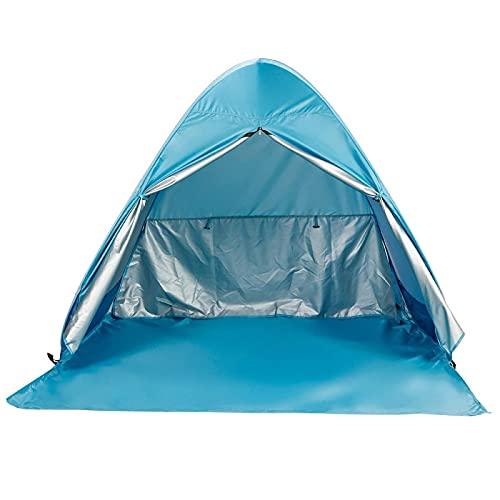 Camping 2-5 Persona Auto Configuración Portátil Playa Tienda UV Refugio Protegido Camping Pesca Senderismo Picnic Picnic Camping Camping Tienda Tienda Tipi (Color : Blue L)