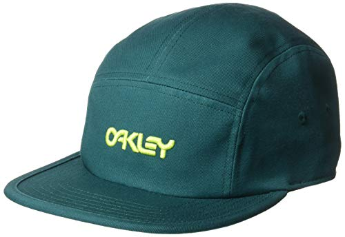 Oakley Men's 5 Panel Cotton Hat, Petrol, U