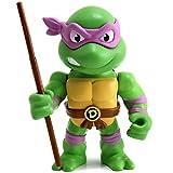 Jada Figura Donatello de Tortugas Ninja, Articulada, 10 cm, Realizada en Metal Fundido a Presión, 100% Licencia Oficial, Coleccionismo, para Niños a Partir de 8 Años y Adultos, Multicolor (253283003)